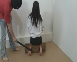 Bastinado Girl in torture